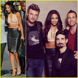 Naya Rivera: 'Jimmy Kimmel Live!' Visit with Backstreet Boys!