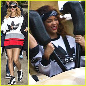 Rihanna Rides Roller Coaster at Tivoli Gardens in Copenhagen!