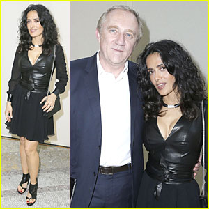 Salma Hayek & Francois-Henri Pinault: Yves Saint Laurent Paris Fashion Show!