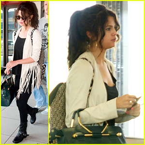 Selena Gomez Catches Flight to Attend Adidas Neo Launch