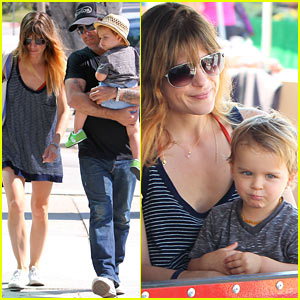 Selma Blair & Ex Jason Bleick: Farmer's Market with Arthur!