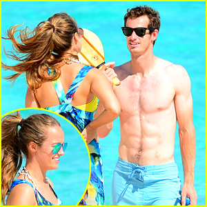 Shirtless Andy Murray: Ibiza Beach Besos with Kim Sears!