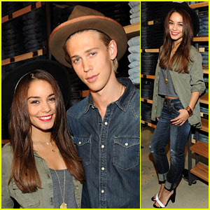 Vanessa Hudgens: AE 'Rock Your Walk' Launch with Austin Butler!