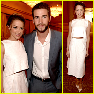Amber Heard & Liam Hemsworth - HFPA Installation Luncheon 2013