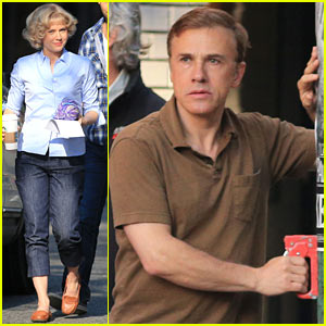 Amy Adams & Christoph Waltz Shoot Scenes for 'Big Eyes'