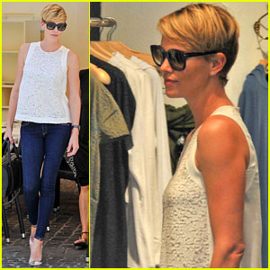 Charlize Theron: Rome Shopping Spree!