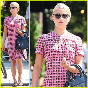Dianna Agron Repeats Cute Dress for NYC Solo Stroll