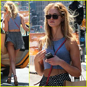 Erin Heatherton Accidentally Flashes Butt on Windy Day