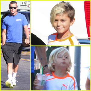Gavin Rossdale: Starbucks & Soccer Practice with the Boys
