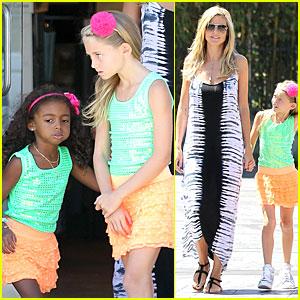 Heidi Klum: Leni & Lou's Matching Outfits!