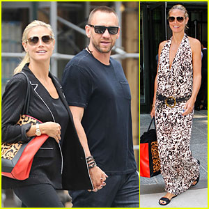 Heidi Klum & Martin Kirsten Hold Hands for NYC Stroll!