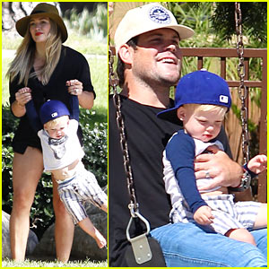 Hilary Duff & Mike Comrie: Park Day with Luca!