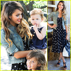 Jessica Alba: Ralph Lauren's Day at the Stables with Honor & Haven!