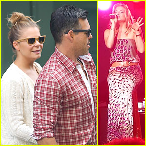 LeAnn Rimes & Eddie Cibrian: NYC Departure After Concert!