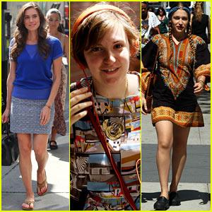 Lena Dunham & Allison Williams Film 'Girls' in the Big Apple!