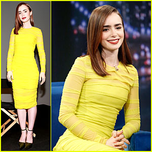 Lily Collins: 'City of Bones' Chat on 'Fallon'!