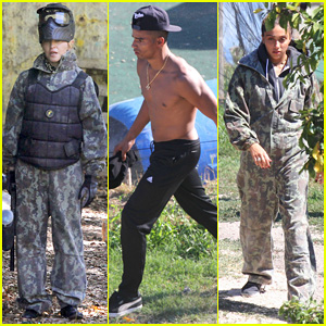 Madonna: Paintball with Shirtless Brahim Zaibat & The Kids!