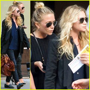 Mary-Kate & Ashley Olsen: Back in NYC After Norway Bik Bok Trip