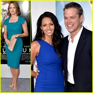 Matt Damon & Jodie Foster: 'Elysium' Premiere!