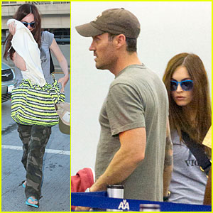 Megan Fox Amp Brian Austin Green Fly Away After Baby News