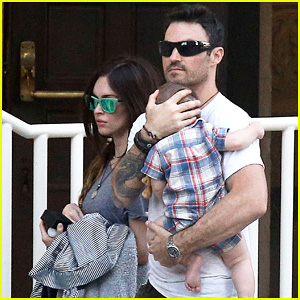 Megan Fox & Brian Austin Green: Sunday Lunch with Baby Noah!