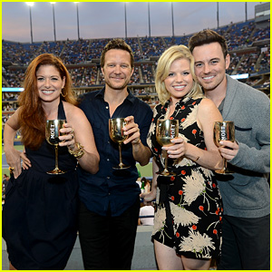 Megan Hilty & Debra Messing: 'Smash' Reunion at U.S. Open!