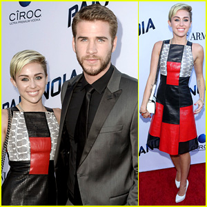 Miley Cyrus & Liam Hemsworth: 'Paranoia' Premiere Pair!
