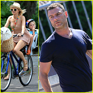 Naomi Watts & Liev Schreiber: Hamptons Bike Ride!