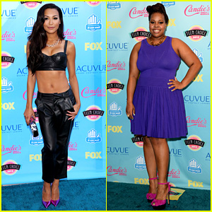Naya Rivera & Amber Riley - Teen Choice Awards 2013