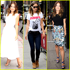 Olivia Wilde: 'Drinking Buddies' Promo Work in New York!