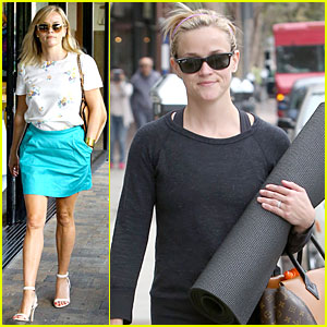 Reese Witherspoon Unwinds at Nail Salon After Workout!
