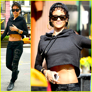 Rihanna Hails a Cab in New York City