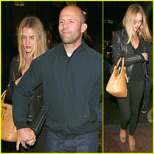 Rosie Huntington-Whiteley & Jason Statham Hold Hands After London Dinner!