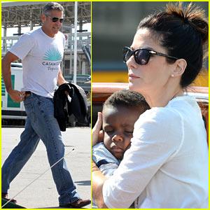 Sandra Bullock & George Clooney: Venice for 'Gravity' Film Festival Opening!