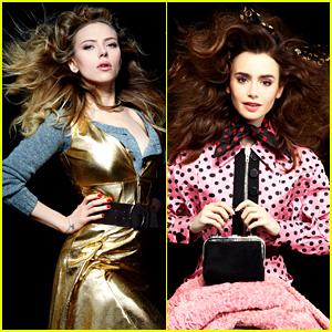 Scarlett Johansson & Lily Collins: 'Harper's Bazaar' Beauties!