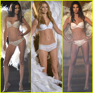 Adriana Lima & Behati Prinsloo Film Victoria's Secret Holiday Ad!