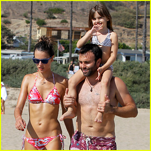 Alessandra Ambrosio: Bikini Babe with Shirtless Jamie Mazur!