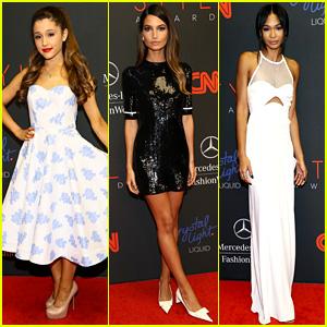 Ariana Grande & Lily Aldridge - Style Awards 2013