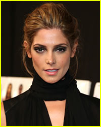 Ashley Greene Sunbathes Topless on Set
