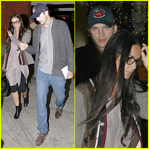 Ashton Kutcher & Demi Moore Reunite for Tech Conference!