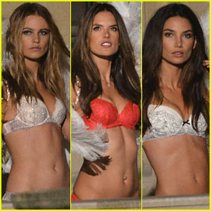 Behati Prinsloo & Lily Aldridge: VS Angels Louvre Film Shoot!