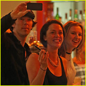 Benedict Cumberbatch Hangs with Laura Carmichael in London