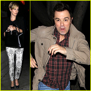 Charlize Theron & Seth MacFarlane: Friendly Dinner Date!