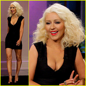 Christina Aguilera Flaunts Slimmed Down Body on 'Leno'
