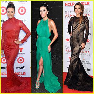 Eva Longoria: Multiple Dresses as NCLR ALMA Awards Host!