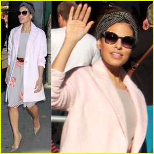 Eva Mendes Promotes New Fashion Line on 'GMA'!
