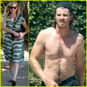 Garrett Hedlund Goes Shirtless, Kirsten Dunst Shops Away!