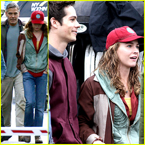 George Clooney Meets Dylan O'Brien on 'Tomorrowland' Set!
