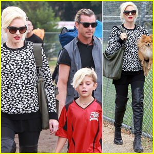 Gwen Stefani & Gavin Rossdale Sit Sidelines at Kingston's Soccer Game