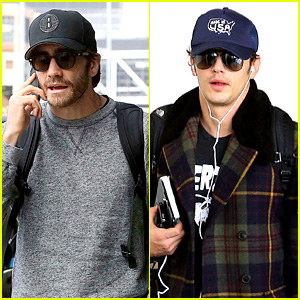 Jake Gyllenhaal & James Franco Land in Los Angeles After TIFF